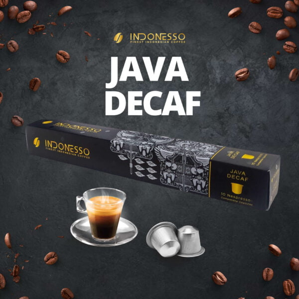 java decaf coffee capsule indonesso