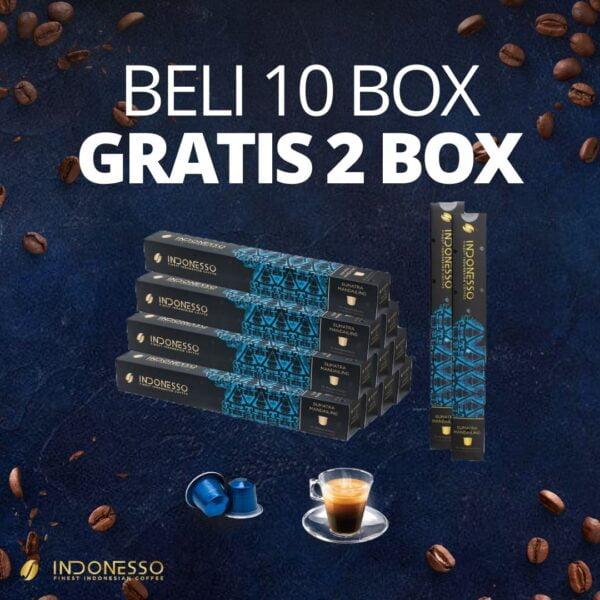 promo sumatra mandailing coffee capsule indonesso